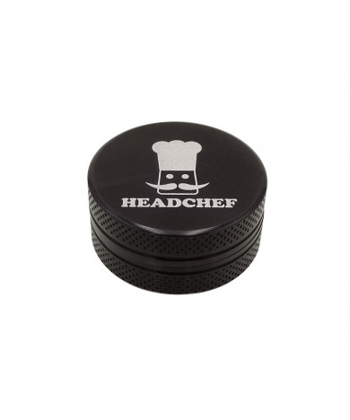 Headchef Classic Herb Grinder 30mm 2 Part Black