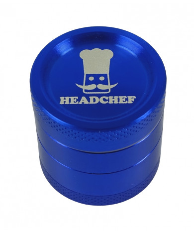Headchef Classic Herb Grinder 30mm 4 Part Blue