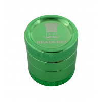 Headchef Classic Herb Grinder 30mm 4 Part Green