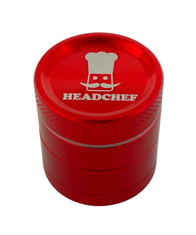 Headchef Classic Herb Grinder 30mm 4 Part Red