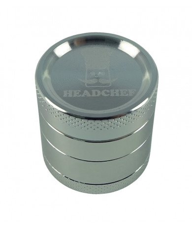 Headchef Classic Herb Grinder 30mm 4 Part Silver