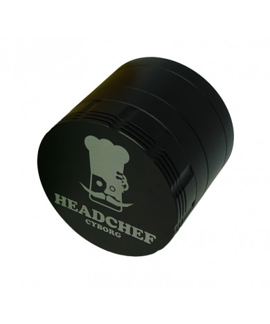 Headchef Cyborg  Herb Grinder 62mm 4 Part Carbon Black