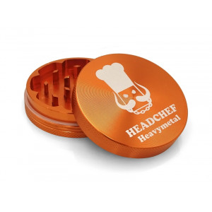 Headchef Heavy Metal Herb Grinder 55mm 2 Part Orange Goblin