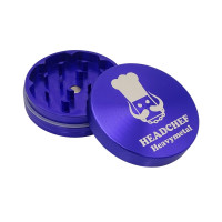 Headchef Heavy Metal Herb Grinder 55mm 2 Part Deep Purple