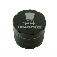 Headchef Razor Herb Grinder 40mm 4 Part Black