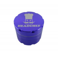 Headchef Razor Herb Grinder 50mm 4 Part Purple