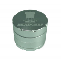 Headchef Razor Herb Grinder 50mm 4 Part Silver
