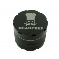 Headchef Razor Herb Grinder 50mm 4 Part Black