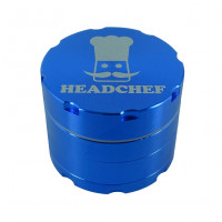 Headchef Razor Herb Grinder 50mm 4 Part Blue