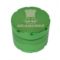 Headchef Razor Herb Grinder 50mm 4 Part Green