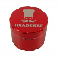 Headchef Razor Herb Grinder 50mm 4 Part Red