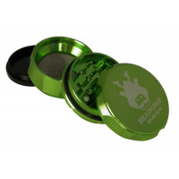 Headchef Samurai Herb Grinder 55mm 4 Part Green
