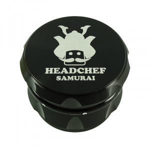Headchef Samurai Herb Grinder 55mm 4 Part Black