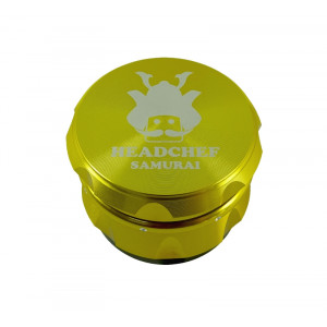 Headchef Samurai Herb Grinder 55mm 4 Part Gold