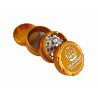 Headchef Spaceman Herb Grinder 55mm 4 Part Sunflare Orange