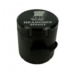 Headchef Speedy Herb Grinder 50mm 4 Part Black