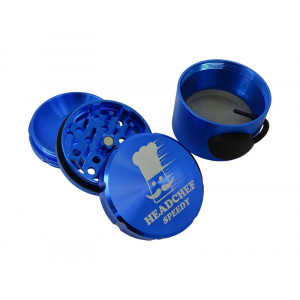 Headchef Speedy Herb Grinder 50mm 4 Part Blue