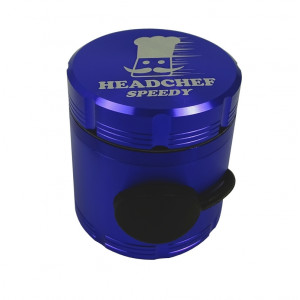 Headchef Speedy Herb Grinder 50mm 4 Part Purple